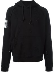 arm patch ripped hoodie Haculla