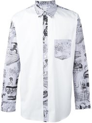 рубашка с контрастными панелями Comme Des Garçons Shirt