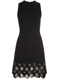 embellished hem sleeveless dress David Koma