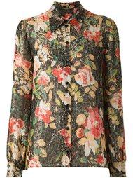 рубашка с цветочным принтом Saint Laurent