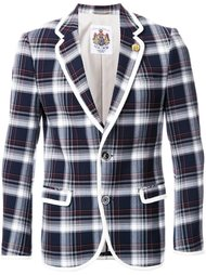 plaid single breasted coat Education From Youngmachines