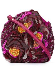 sequinned flowers clutch Jamin Puech