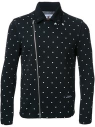 dotted back quote biker jacket Education From Youngmachines