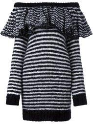 striped ruffle off shoulder dress Philosophy Di Lorenzo Serafini