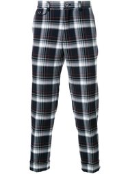 plaid cropped trousers Education From Youngmachines