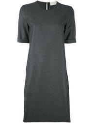 платье-футболка с подвернутыми манжетами Maison Rabih Kayrouz