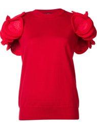 трикотажный топ с аппликациями на плечах Junya Watanabe Comme Des Garçons