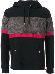textured stripe hoodie Education From Youngmachines