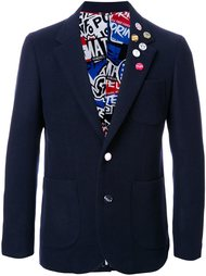 pinned one button blazer Doublet