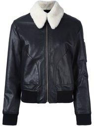куртка с шерстяным воротником  Mm6 Maison Margiela