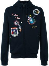 толстовка с капюшоном и нашивками Dolce & Gabbana