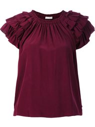 ruffled detail T-shirt  Ulla Johnson