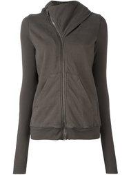curved zip hoodie Rick Owens DRKSHDW
