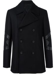 panelled double breasted coat Les Hommes