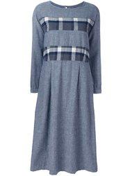 платье с полосками в клетку Blue Blue Japan