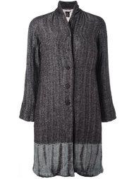 tie-dye herringbone coat  Suzusan