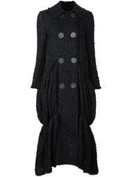 двубортное пальто с оборкам Simone Rocha