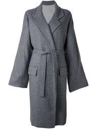 пальто свободного кроя с поясом Nehera