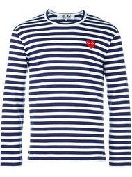 striped crew neck sweatshirt Comme Des Garçons Play