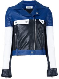 colour block biker jacket Courrèges