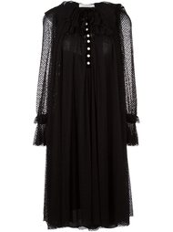 semi sheer pleated dress Philosophy Di Lorenzo Serafini