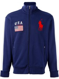 flag patch zipped cardigan Polo Ralph Lauren