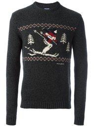 свитер вязки интарсия Woolrich