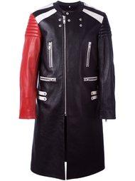 удлиненное байкерское пальто  Maison Margiela