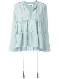 многоярусная блузка Chloé