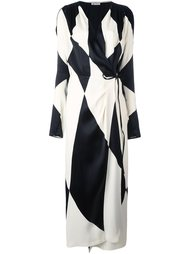 diamond print wrap dress Attico