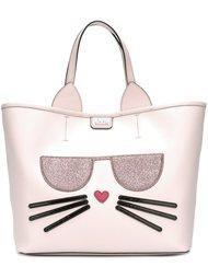 сумка-тоут с аппликацией кота Karl Lagerfeld