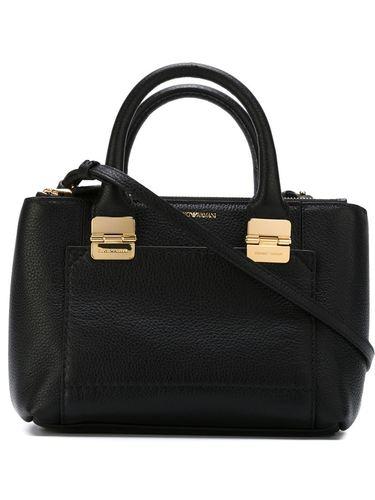 сумка через плечо с тисненым логотипом Emporio Armani