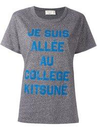 message print T-shirt Maison Kitsuné