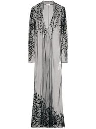 платье с кружевным слоем Attico