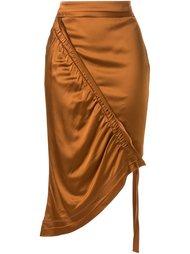 asymmetric ruched skirt  Manning Cartell