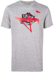 футболка с принтом розы Dior Homme
