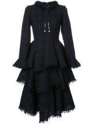 твидовое платье с оборками Huishan Zhang