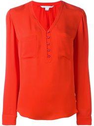 button front v-neck blouse Diane Von Furstenberg
