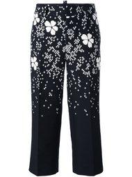 укороченные брюки с цветочным принтом Dsquared2