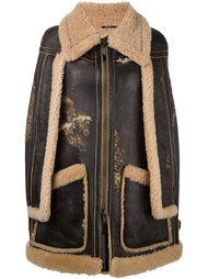 пальто на молнии с накидкой Maison Margiela