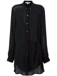 полупрозрачная удлиненная рубашка  Ann Demeulemeester Blanche