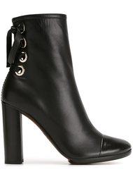 tie fastening ankle boots Proenza Schouler