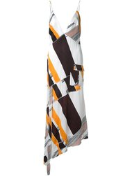 asymmetric printed dress  Manning Cartell