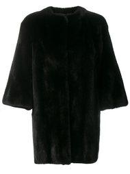 пальто из меха норки Yves Salomon