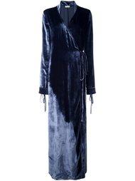 velvet effect wrap dress Attico