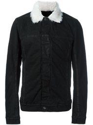 куртка с контрастным воротником  Rick Owens DRKSHDW