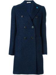 peaked lapel coat Lardini