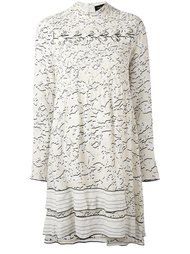 longsleeved vine print dress Proenza Schouler
