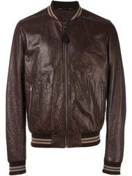 куртка бомбер с эффектом помятости Dolce & Gabbana