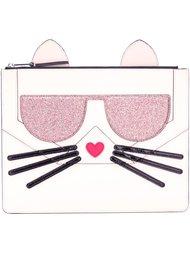 клатч 'Choupette' Karl Lagerfeld